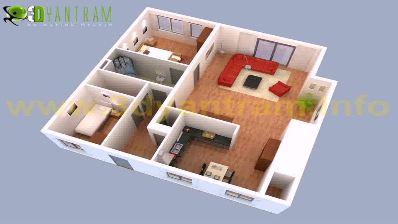 Small House Plans 3 Bedrooms 3d - Gif Maker DaddyGif.com ...