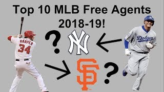 Top 10 MLB Free Agents 2019!