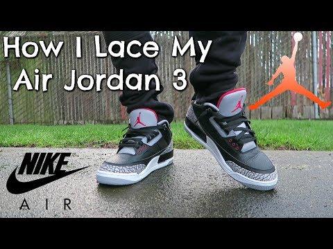 How I Lace My Air Jordan 3