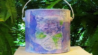 Diy Ucpcyled Paint Can To Toilet Paper Holder W/coffee Filters
