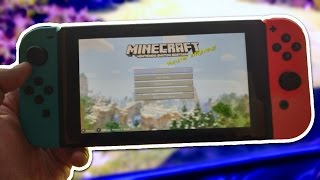MINECRAFT NINTENDO SWITCH EDITION EARLY GAMEPLAY!