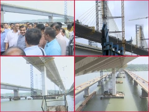 Gadkari attends topping out ceremony of India's 3rd longest cable-stayed bridge in Goa