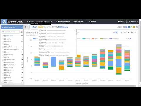AnswerDock Search Based Analytics Demo