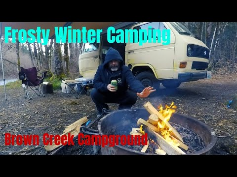 frosty-winter-camping-in-a-van-at-brown-creek-campground---notvanpron-trip-vlog-4