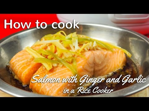 STEAMED SALMON RECIPE IN RICE COOKER