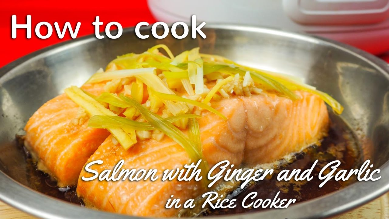 STEAMED SALMON RECIPE IN RICE COOKER - YouTube