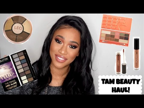 MAKEUP REVOLUTION/TAM BEAUTY HAUL! My Sign Collection, Peach Chocolate Palette & MORE...