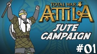 Total War: Attila Gameplay - Viking Forefathers - The Jutes Campaign - Part One!