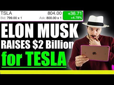 Elon Musk raises $2 billion for Tesla Stock! Why this matters!