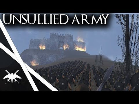 1000 Unsullied Siege Casterly Rock! - Mount & Blade Warband ACOK