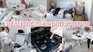 CLEAN WITH ME 2019 - ALL DAY CLEANING ROUTINE / SAHM SPEED CLEANING MOTIVATION | Lauren Midgley