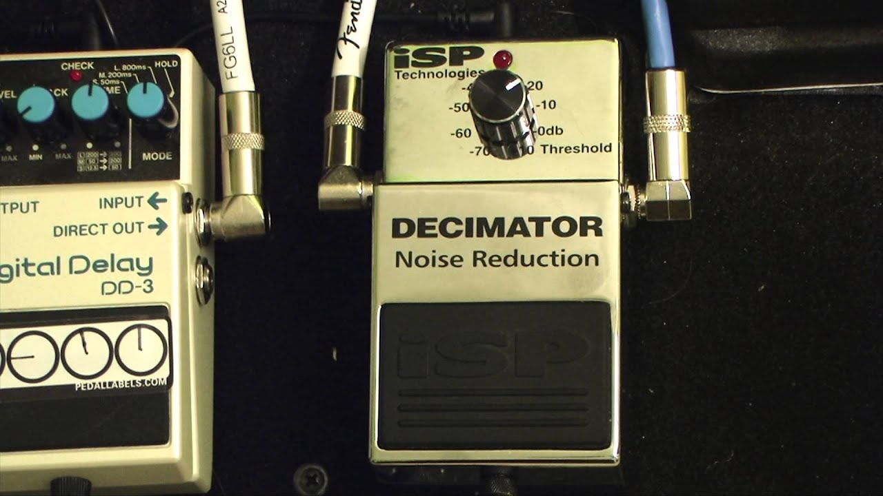 Isp Decimator Noise Reduction Pedal Demo Matt Manzella