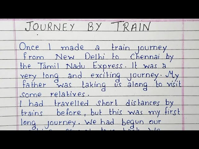 short essay journey by train