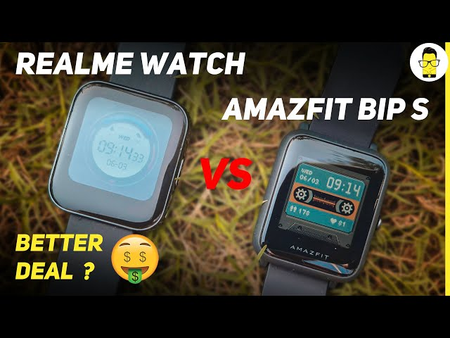 Amazfit Bip S review & comparison with Realme Watch | best smartwatch under 5000?