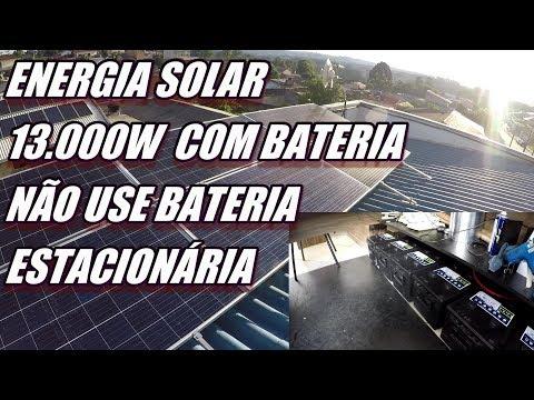 ENERGIA SOLAR 13.000 W NA BATERIA NÃO COMPREM ESTACIONARIA