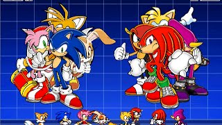 [Sonic Mugen 00] Team Sonic Freedom Fighter Vs Team Knuckles Chaotix