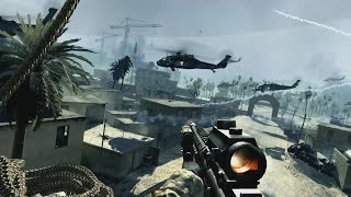 Call Of Duty Modern Warfare 1 (English No Comment) (Xbox 360 Game On Xbox One X) + Credits Rap Song.