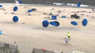Dance of the Umbrellas - Ocean City, MD Storm 7/20/15