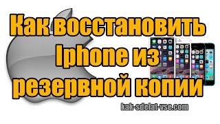 Как восстановить iphone из резервной копии. Через Itunes (Ipad)(, 2015-07-05T15:07:01.000Z)