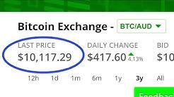 Bitcoin Price Hits $10,000 Australian Dollars!!