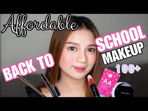 Affordable Back To School Makeup 2018 ( ALL UNDER 200 PESOS )💖