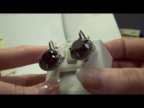 Серебряные наборчики с Гранатом и кварцем гранат.