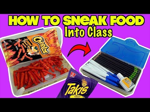 5 Ways To Sneak Your Favorite Snacks Into Class| Nextraker