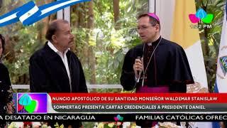 Nuncio Apostólico Waldemar Stanilaw presentó Cartas Credenciales al Presidente Daniel