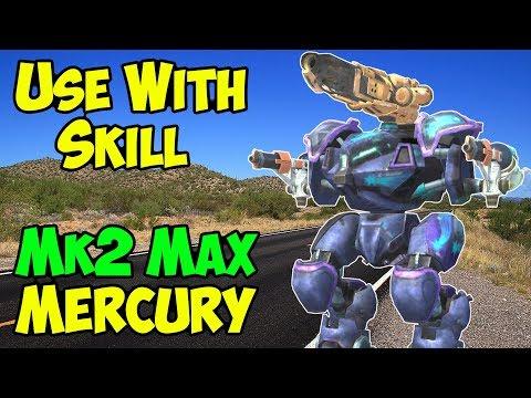 War Robots Skill Bot: Ember Spark Mercury Mk2 Maxed Gameplay WR