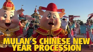 Mulan's Chinese New Year Procession 2019 | Disneyland Resort
