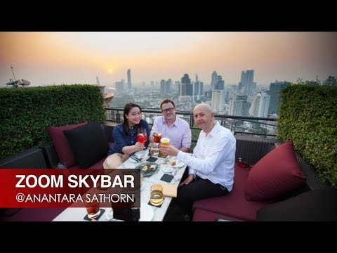 AWESOME ROOFTOP BAR IN BANGKOK - ZOOM ROOFTOP SKY BAR @ ANANTARA SATHORN BANGKOK HOTEL