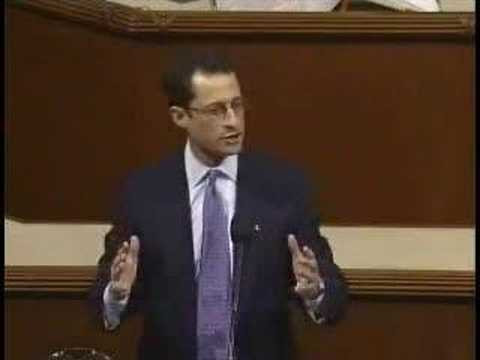 Anthony Weiner Speaks in Support of Iraq Resolution (Part 2)