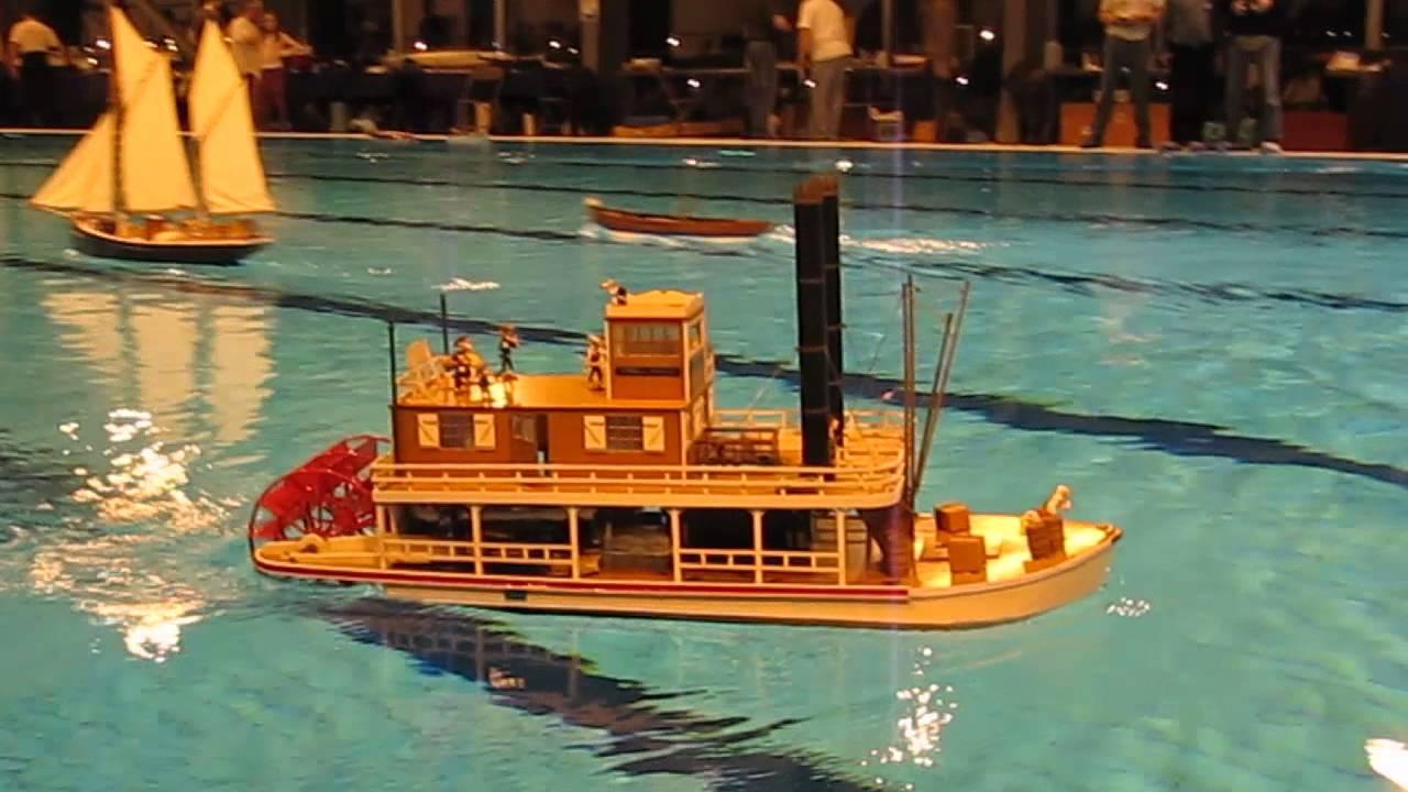 amna 2014 88 premire navigation du mississippi vapeur rc king of river paddle boat youtube