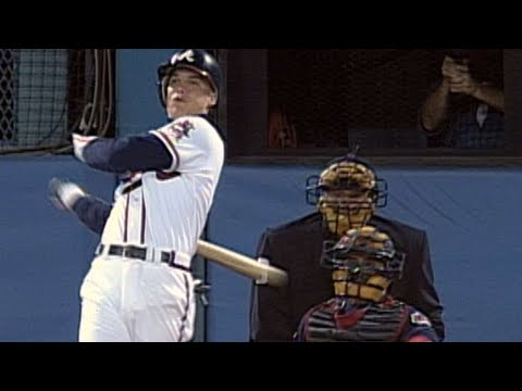 1995 WS Gm2: Chipper collects his first hit in the World Series