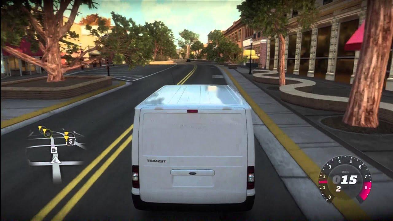 forza horizon - heavily modified ford transit van  white van man