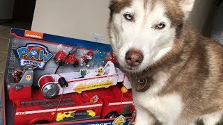 PAW PATROL ULTIMATE FIRETRUCK TOY UNBOXING!