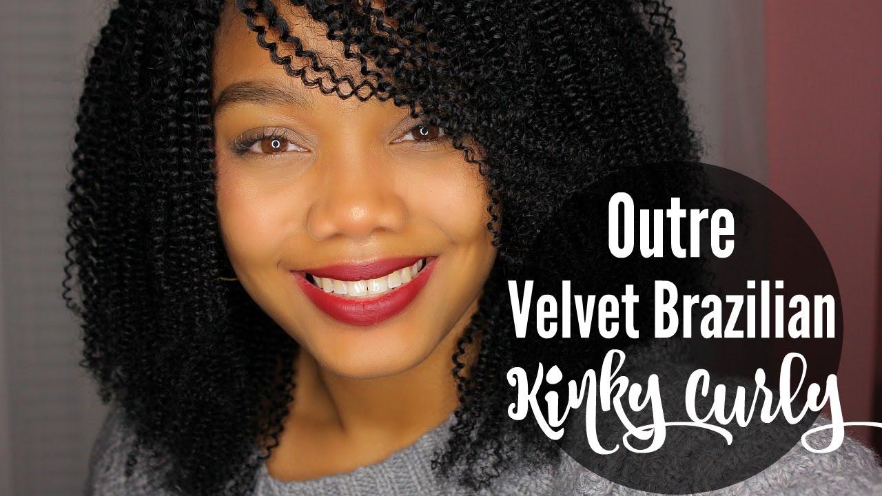 Diy Full Wig W Outre Velvet Brazilian Kinky Curly Hair