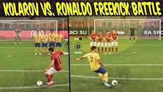 Die beiden haben den härtesten Freistoß! KOLAROV vs RONALDO Freekick Battle! - Fifa 20 Ultimate Team