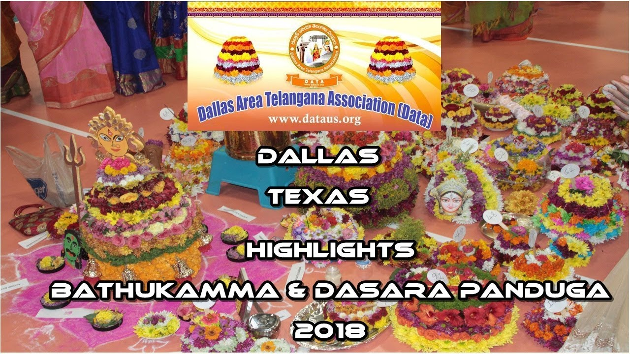 Visuals from DATA Bathukamma & Dasara Panduga - October 13th 2018 at Frisco Flyers Event Center