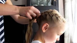 Jak zrobić ASYMETRYCZNY WARKOCZ DOBIERANY | fryzura dla dziewczynki