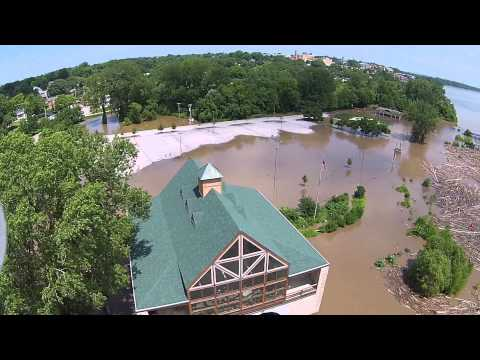 Flooding in Saint Charles Missouri due to Tropical Depression Bill