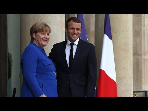 Merkel arrives in Paris to attend cabinet meeting with Macron
