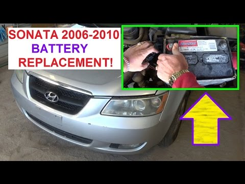 battery replacement hyundai sonata 2006 2010 how to. Black Bedroom Furniture Sets. Home Design Ideas