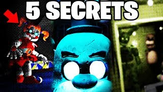 TOP 5 FNAF 7 SECRETS AND EASTERS EGGS YOU MISSED! || FNaF: Into Madness/VR Help Wanted