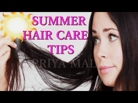 SUMMER HAIR CARE TIPS FOR OILY HAIR/ GREASY HAIR/ OILY SCALP~ HOMEMADE HAIR MASK FOR OILY HAIR - 동영상
