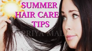 SUMMER 🌞HAIR CARE TIPS FOR OILY HAIR/ GREASY HAIR/ OILY SCALP~ HOMEMADE HAIR MASK FOR OILY HAIR
