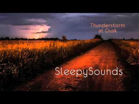 Thunderstorm at Dusk - Audio Recording - 9 hours of rain, thunder and crickets – ambience, sleep