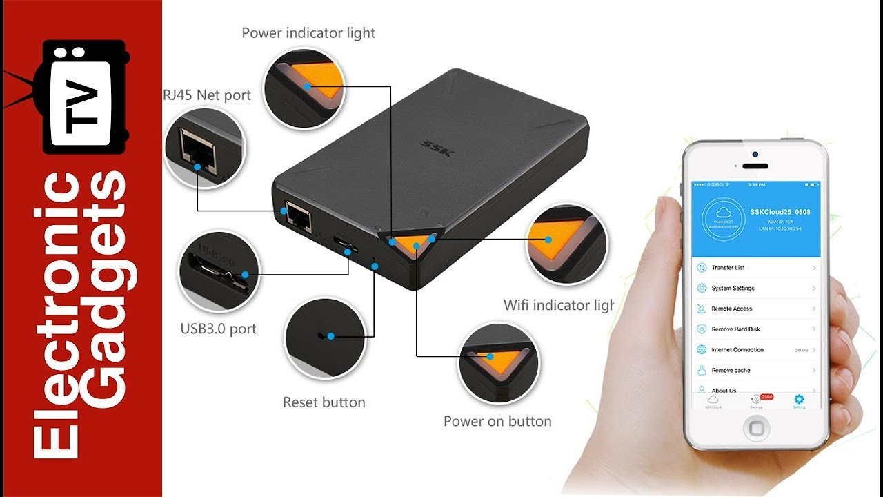 portable wifi hard disk with 1tb storage and app support youtube