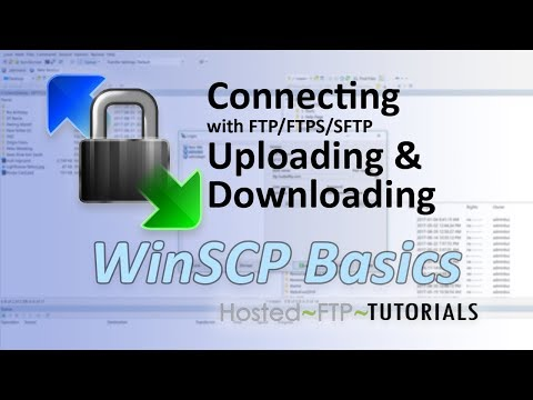 WinSCP Tutorial - Connecting with FTP, FTPS, SFTP, uploading and downloading