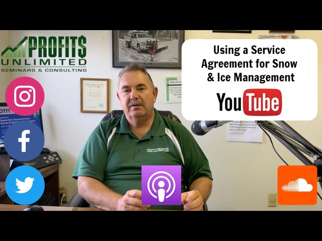 Using a Service Agreement for Snow & Ice Management